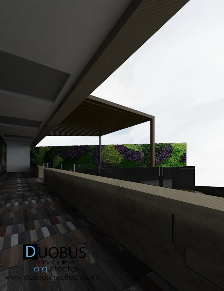 terraza p.a.: Terrazas de estilo  por DUOBUS M + L arquitectos