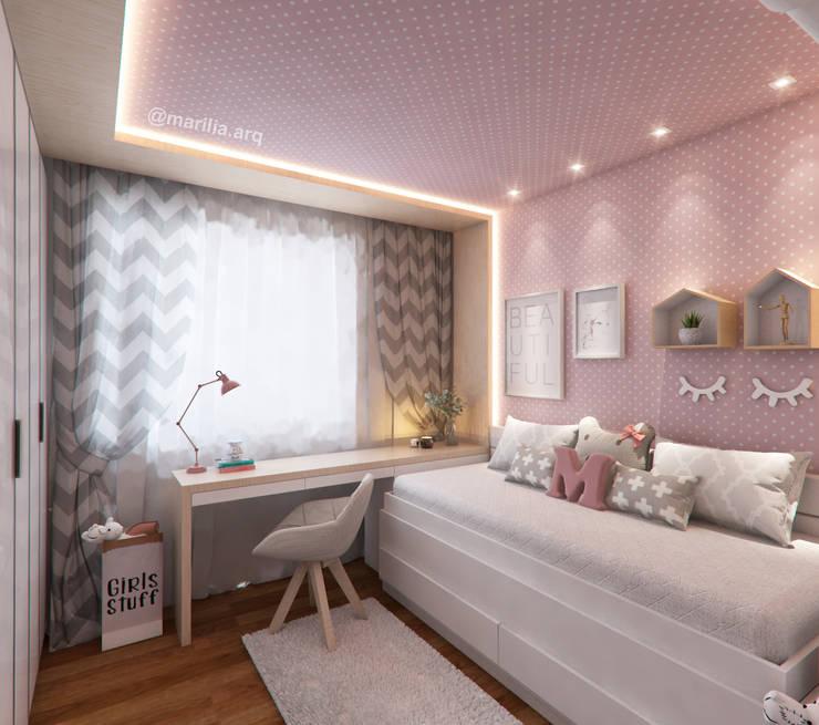 Nursery/kid's room by Marilia Zimmermann Arquitetura e Interiores