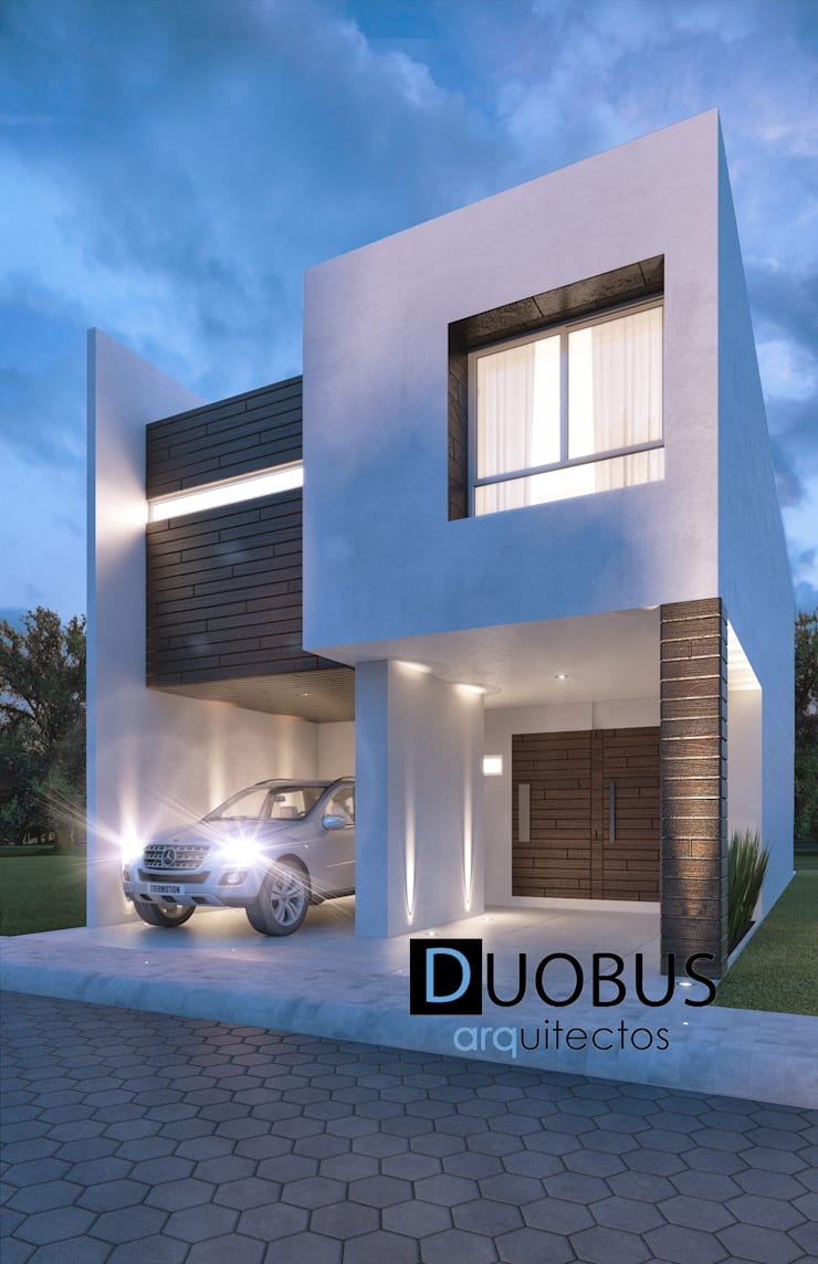 Casa J.E.M. Fracc. Arboreto.: Casas de estilo  por DUOBUS M + L arquitectos