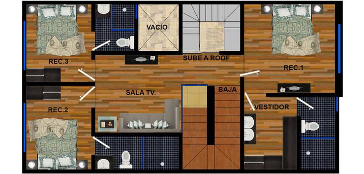 planta alta actual.:  de estilo  por DUOBUS M + L arquitectos