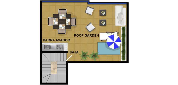 roof actual.:  de estilo  por DUOBUS M + L arquitectos
