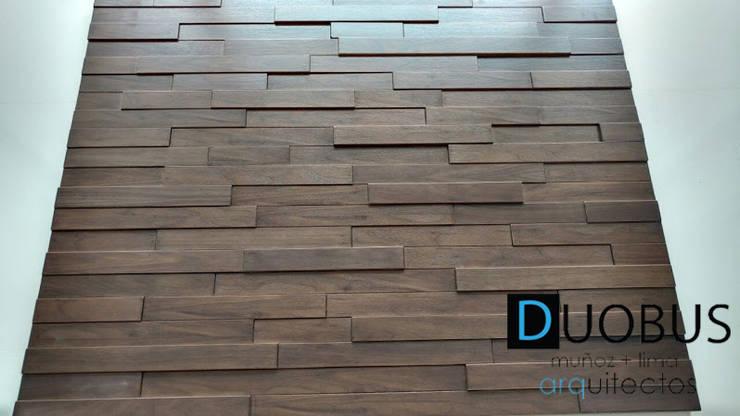 detalle en muro: Paredes de estilo  por DUOBUS M + L arquitectos