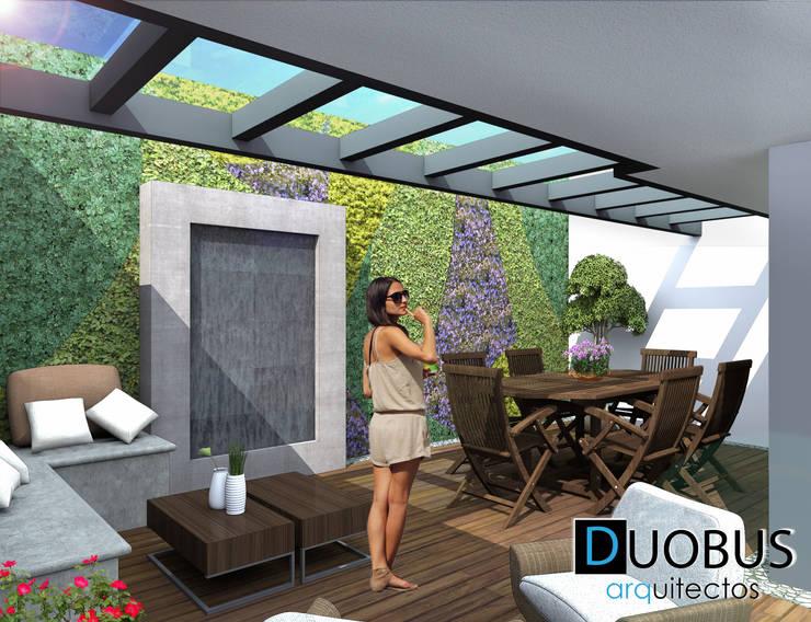 terraza.: Terrazas de estilo  por DUOBUS M + L arquitectos