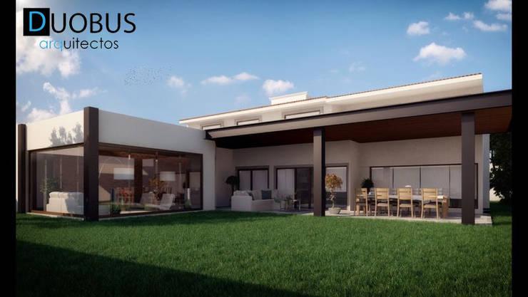 Terraza y Bar Casa K.: Terrazas de estilo  por DUOBUS M + L arquitectos