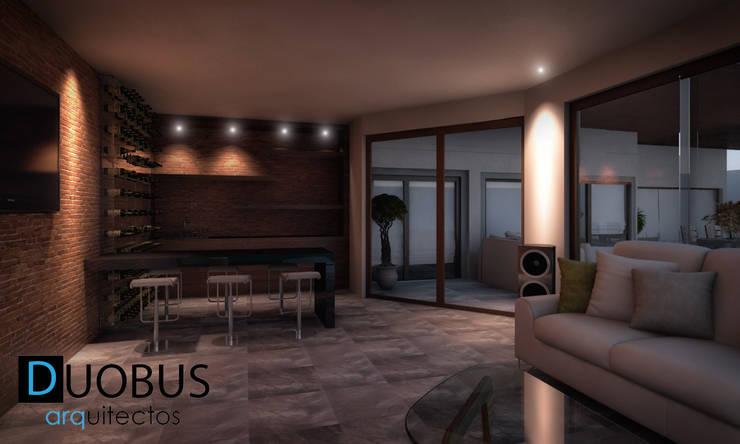 Terraza y Bar Casa K.: Salas de estilo  por DUOBUS M + L arquitectos