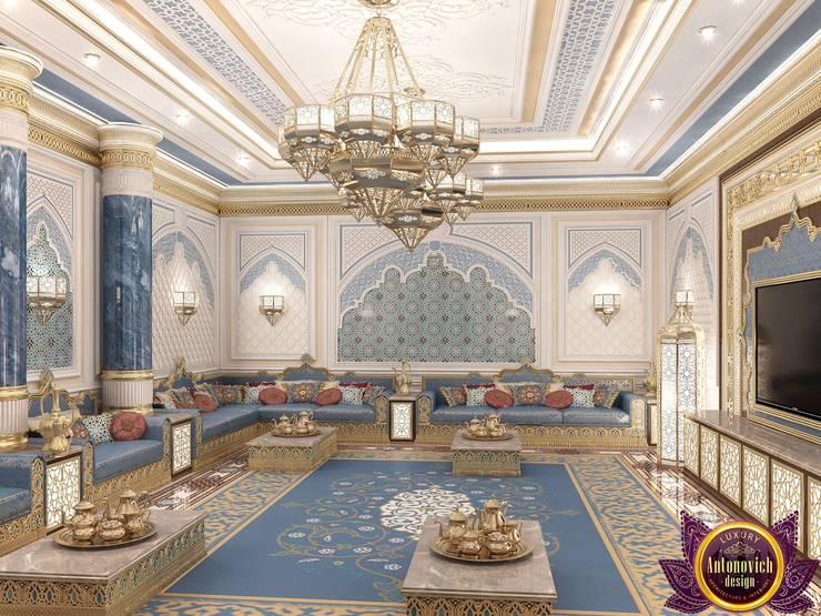 Interior design Arabic style of Katrina Antonovich:  Living room by Luxury Antonovich Design