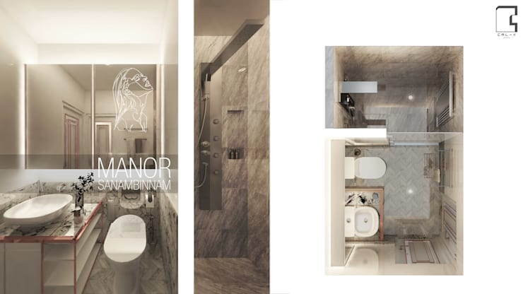 Interior Design Project for the Manor Condominium Sanambinnam in Nonthaburi, Thailand:   by CAL Design Co., Ltd.