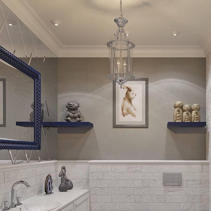 حمام تنفيذ Dots&points interior design studio