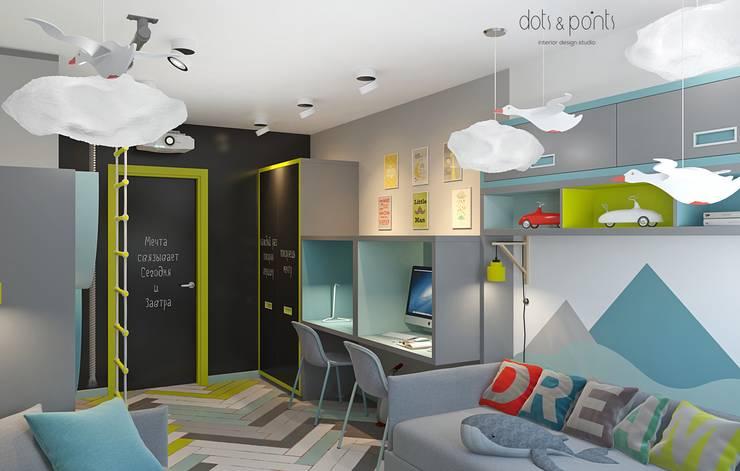 غرفة الاطفال تنفيذ Dots&points interior design studio
