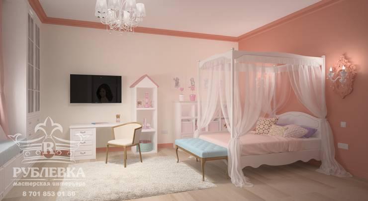 Спальня для девочки: Детские комнаты в . Автор – мастерская интерьера РУБЛЕВКА / workshop interior RUBLEVKA