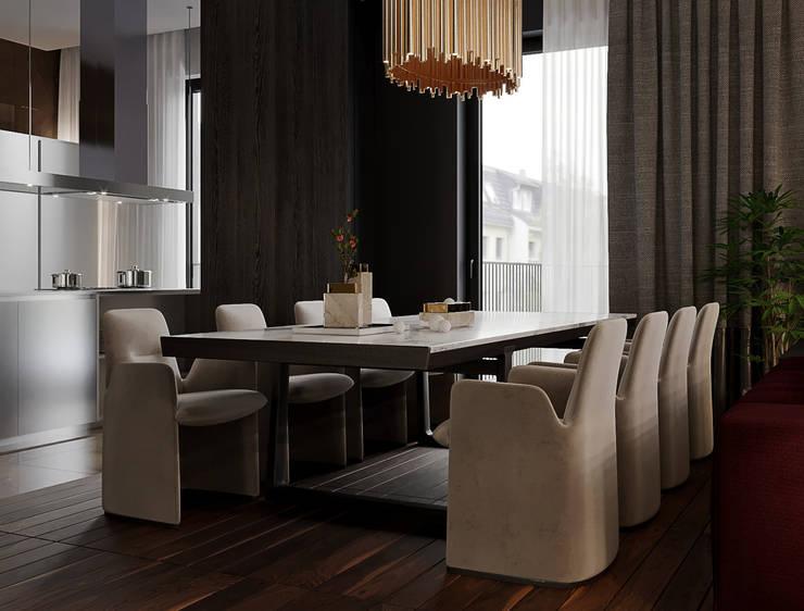 """ЖК """"Esentai City"""" Апартаменты 1-02: Столовые комнаты в . Автор – ATO Studio"""