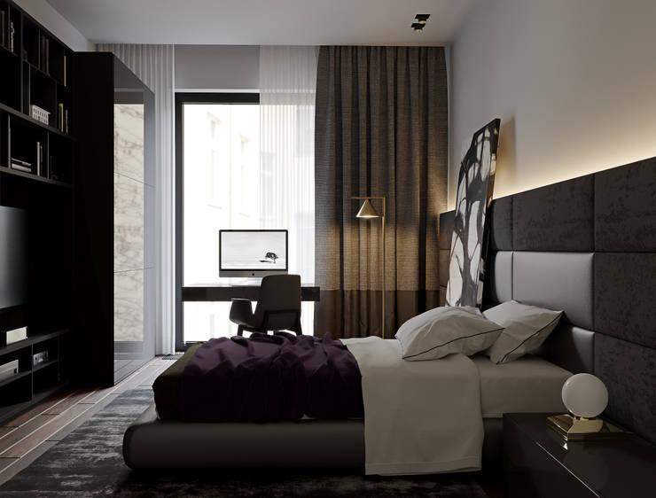 """ЖК """"Esentai City"""" Апартаменты 1-02: Спальни в . Автор – ATO Studio"""