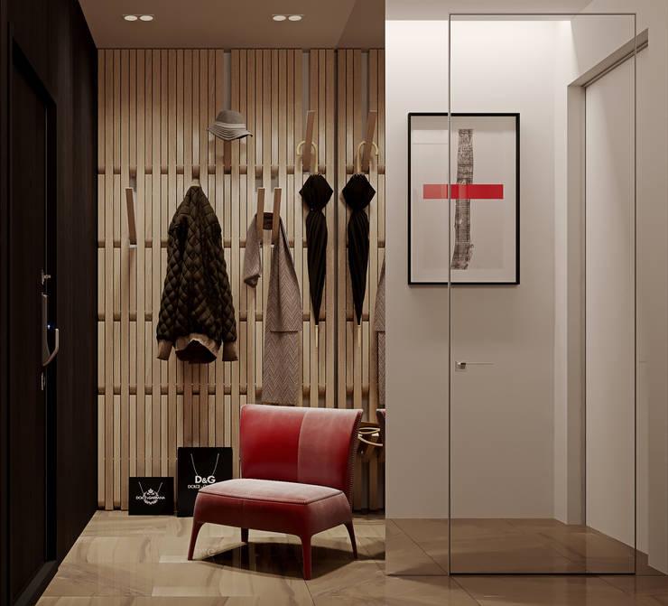 """ЖК """"Esentai City"""" Апартаменты 1-02: Коридор и прихожая в . Автор – ATO Studio"""