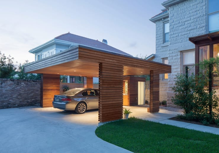 modern Garage/shed by studioWTA