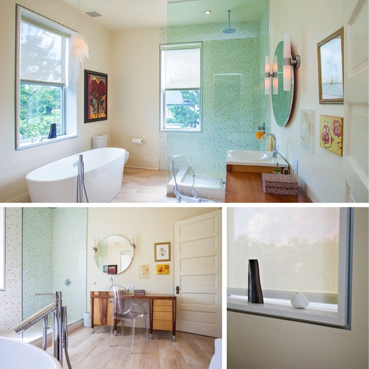 City Park Residence, New Orleans:  Bathroom by studioWTA