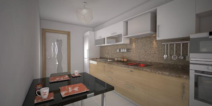 Minel Mimarlık Yapı Mühendislik İnşaat Sanayi Ticaret Limited Şirketi – Foreli Evler 6 :  tarz Mutfak, Modern