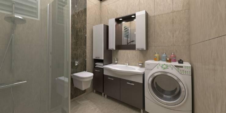 Minel Mimarlık Yapı Mühendislik İnşaat Sanayi Ticaret Limited Şirketi – Foreli Evler 6 :  tarz Banyo, Modern