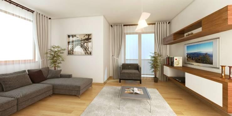 Minel Mimarlık Yapı Mühendislik İnşaat Sanayi Ticaret Limited Şirketi – Foreli Evler 6 :  tarz Oturma Odası, Modern