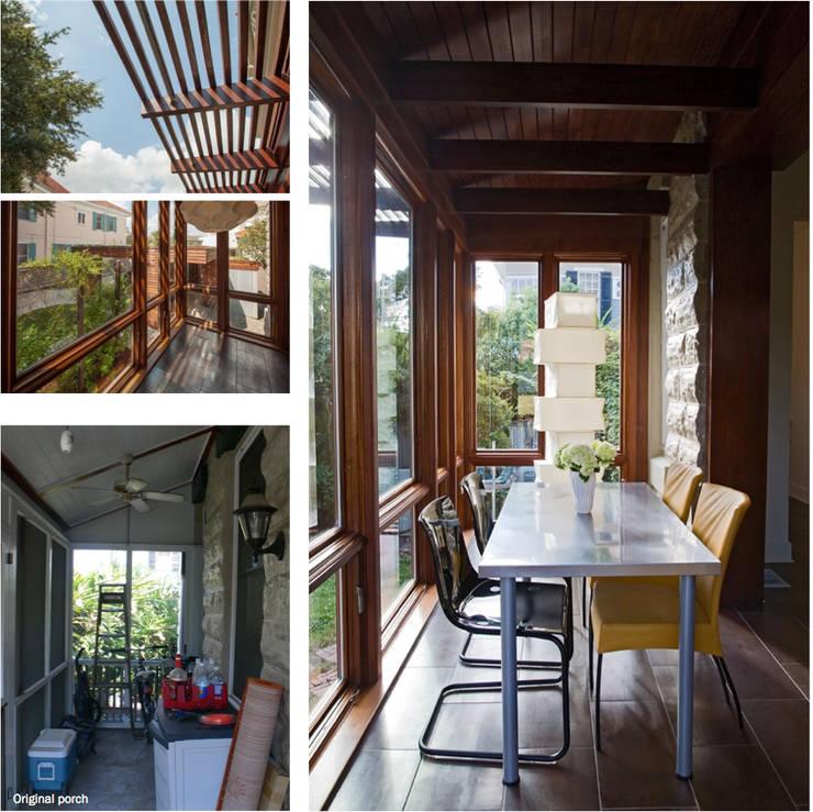 City Park Residence + Carport, New Orleans:  Living room by studioWTA
