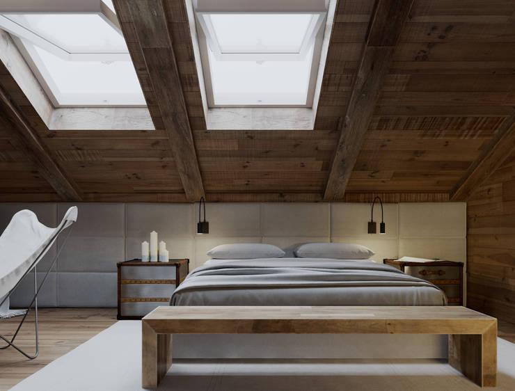 Загородная резиденция шале Ak Bulak 03: Спальни в . Автор – ATO Studio