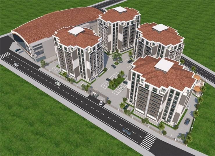 Casas estilo moderno: ideas, arquitectura e imágenes de Minel Mimarlık Yapı Mühendislik İnşaat Sanayi Ticaret Limited Şirketi Moderno