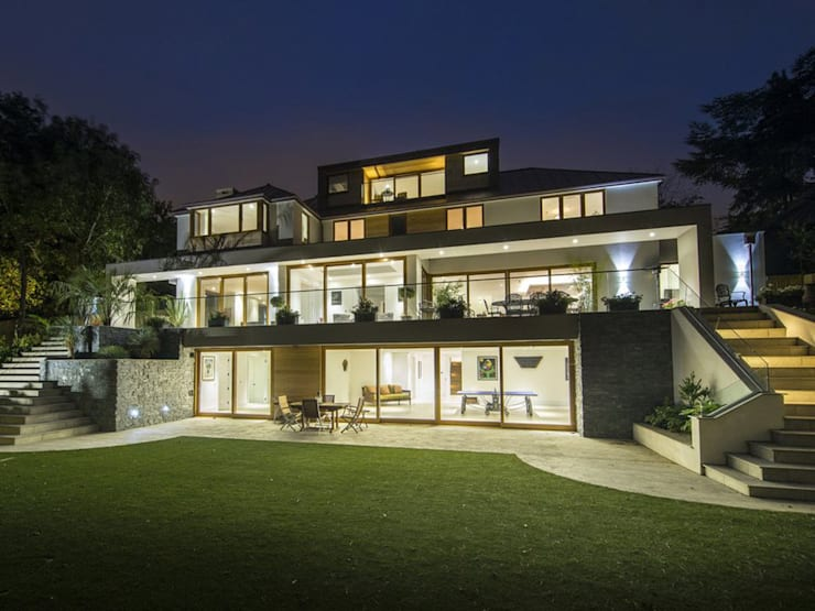 New Build 6 Bedroom House in Wimbledon :   by Andrew Harper Architects