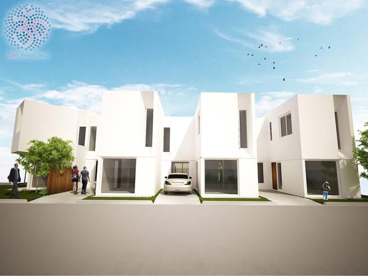 Fachada sur: Casas de estilo  por OAC srl,