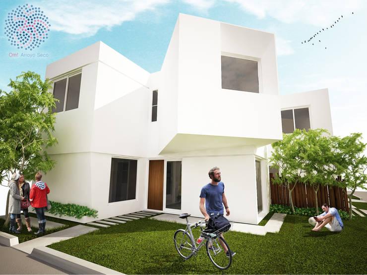 Fachada oeste: Casas de estilo  por OAC srl,