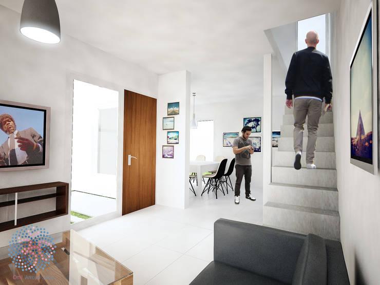 Interior - Living comedor: Livings de estilo  por OAC srl,