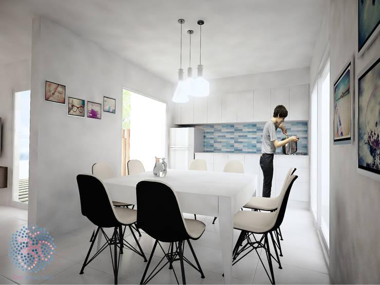 Interior - Cocina comedor: Cocinas de estilo  por OAC srl,