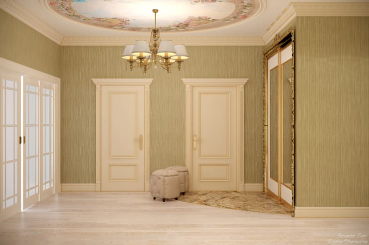 Klasik Koridor, Hol & Merdivenler Студия интерьерного дизайна happy.design Klasik
