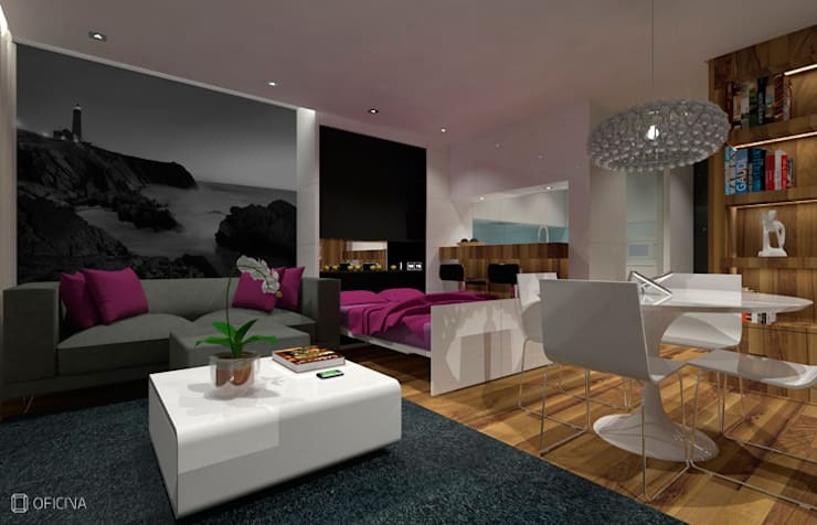 Apartamento T0 – São Pedro de Moel: Cozinhas  por OFICINA - COLECTIVO DE IDEIAS, LDA