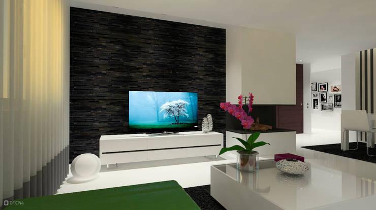 Living room by OFICINA - COLECTIVO DE IDEIAS, LDA, Modern