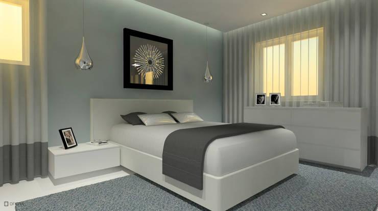 Bedroom by OFICINA - COLECTIVO DE IDEIAS, LDA, Modern