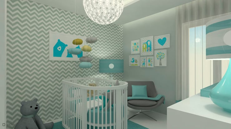 Nursery/kid's room by OFICINA - COLECTIVO DE IDEIAS, LDA, Modern