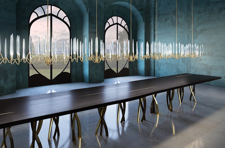 Il Pezzo 3 Endless Chandelier: modern Dining room by Il Pezzo Mancante Srl