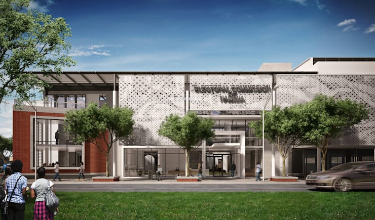 Commercial Building Namibia:  Office buildings by Visualize 3D
