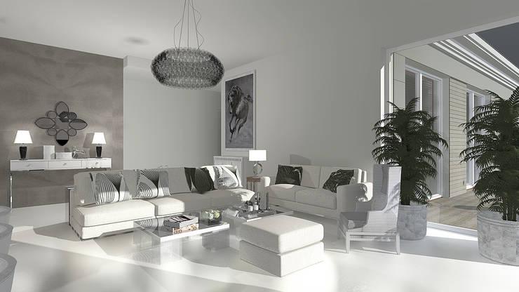 Salas / recibidores de estilo  por JSK STUDIO