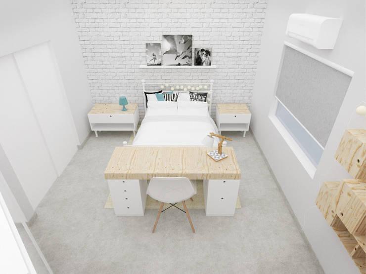 غرفة نوم تنفيذ Andressa Cobucci Estúdio