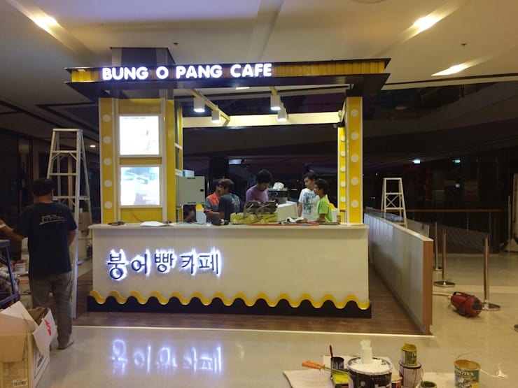 ตกแต่งร้าน Bung O Pang Cafe' @ Central Festival Hatyai:   by Station Q