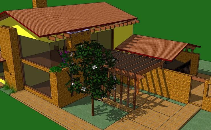 Vista Acceso: Casas de estilo rural por ARMANDO PRIETO - ARQUITECTO