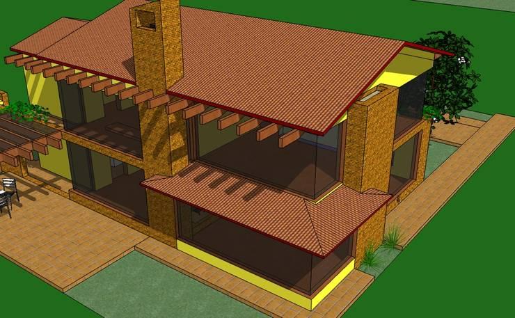 Vista Aerea: Casas de estilo rural por ARMANDO PRIETO - ARQUITECTO