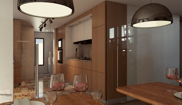 CASA IROTAMA: Cocinas de estilo  por Cabas/Garzon Arquitectos