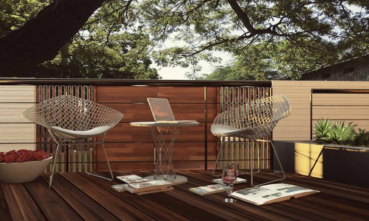 CASA IROTAMA: Jardines de estilo  por Cabas/Garzon Arquitectos