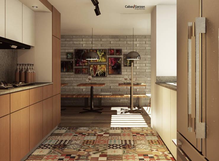 Cocinas de estilo moderno por Cabas/Garzon Arquitectos