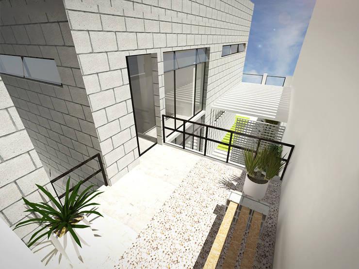 Rumah Modern Oleh Andressa Cobucci Estúdio Modern Beton