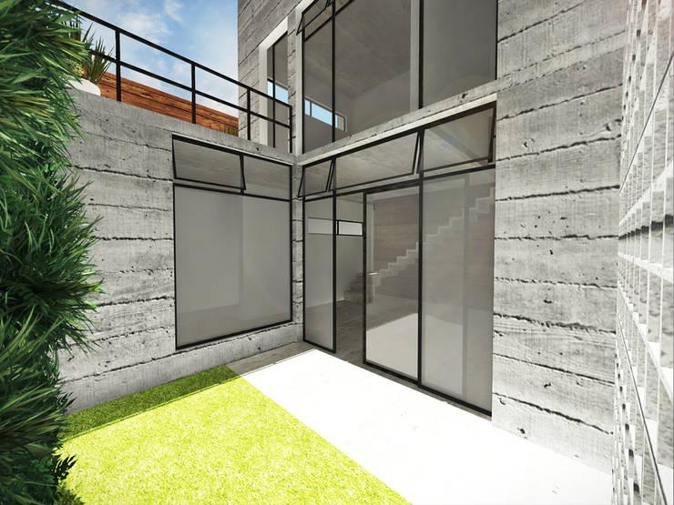 現代房屋設計點子、靈感 & 圖片 根據 Andressa Cobucci Estúdio 現代風 水泥