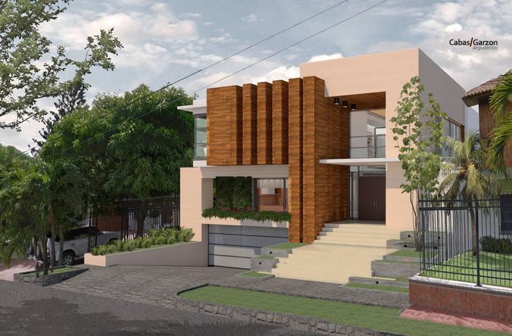 CASA T C: Casas de estilo  por Cabas/Garzon Arquitectos