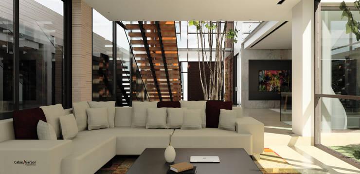 CASA T C: Salas de estilo  por Cabas/Garzon Arquitectos