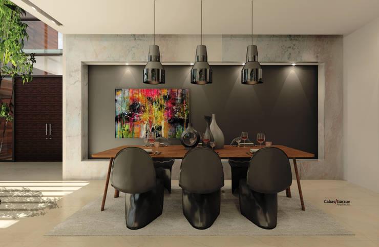 CASA T C: Comedores de estilo  por Cabas/Garzon Arquitectos